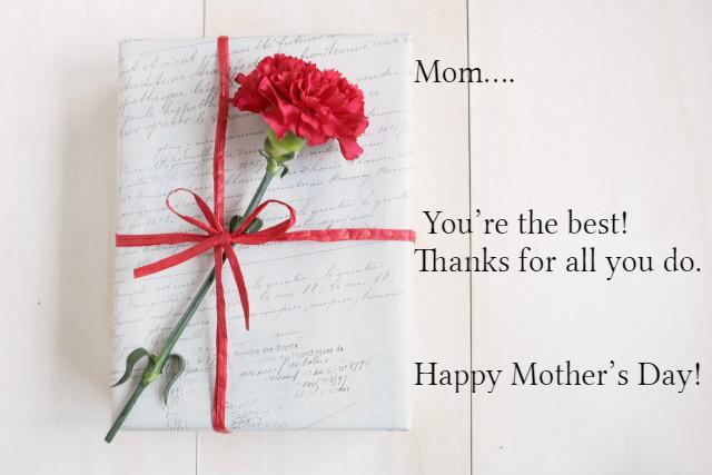 母の日のカーネーションやプレゼントに添える短い英語メッセージ例文